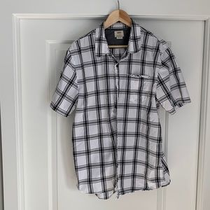 Vans Short Sleeved Button Up